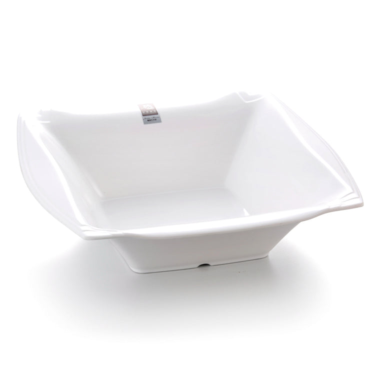 13 Inch White Large Square Melamine Soup Bowl B1370GC