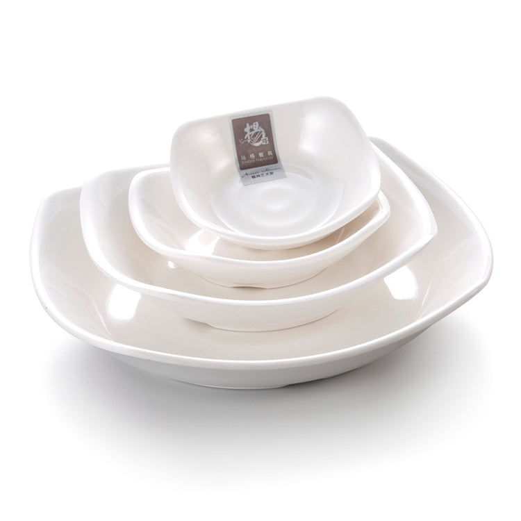 4.5 Inch White Melamine Appetizer Dish Set B230GC