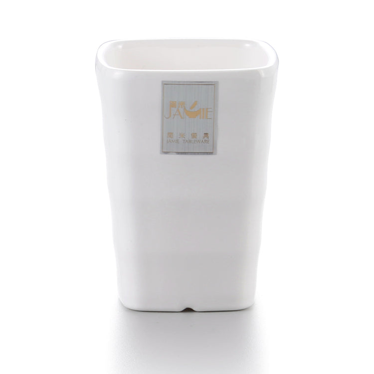 2.6 Inch White Cafe Melamine Square Cup C026001GC
