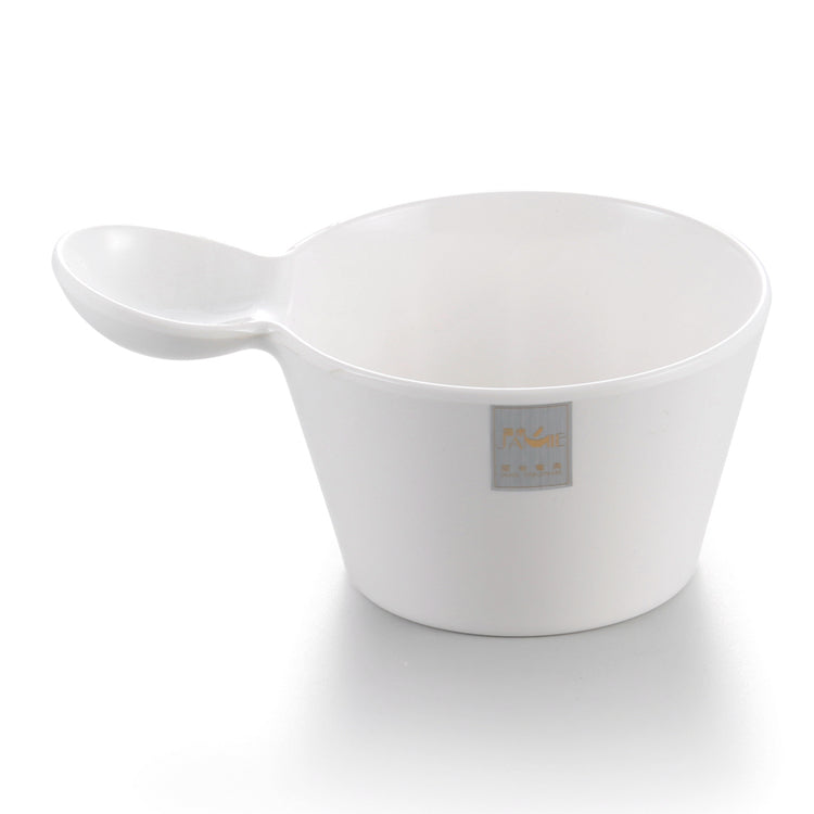 7 Inch White Melamine Deep Bowl With Handle J234760GC