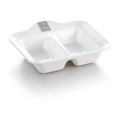 White Divided Melamine Serving Sauce Dish J321540GC