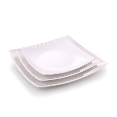 12 Inch White Square Melamine Dinner Plate J419042GC