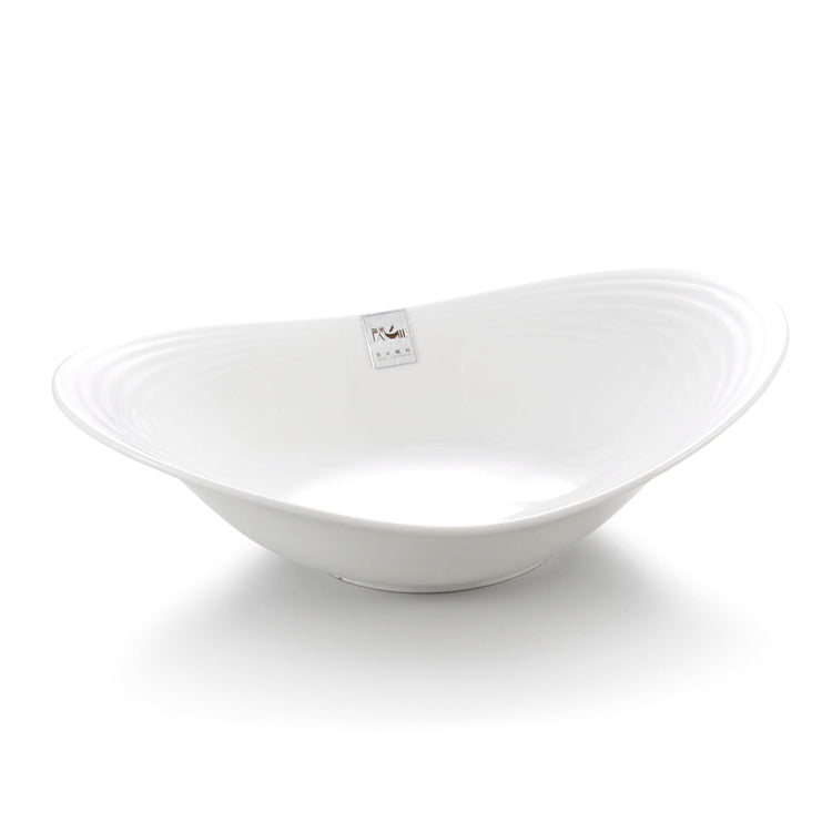 10 Inch White Oval Melamine Food Serving Bowls J636751GC