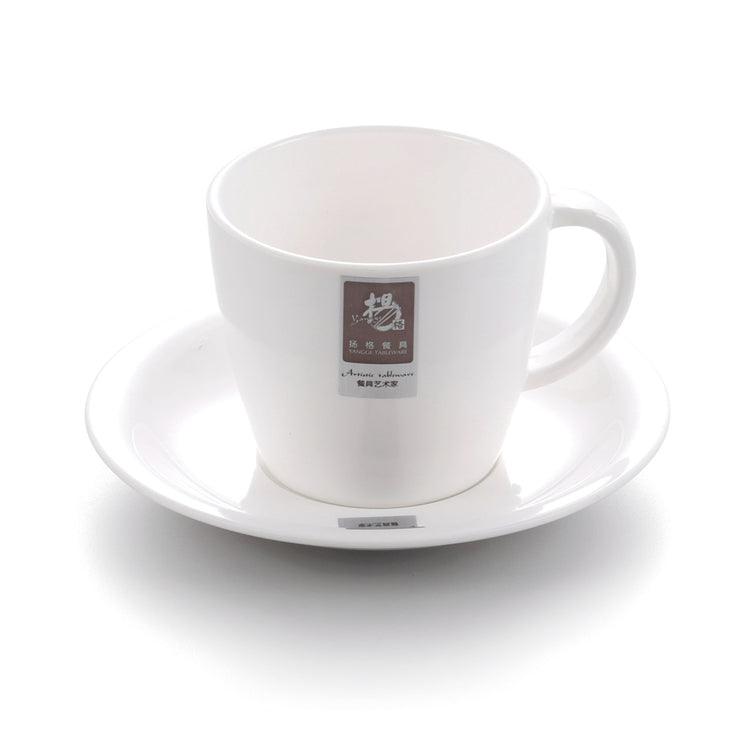 European Style White Cafe Melamine Coffee Cup M12GC