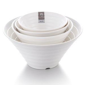 9.4 Inch White Large Melamine Salad Bowl Set YG141001GC