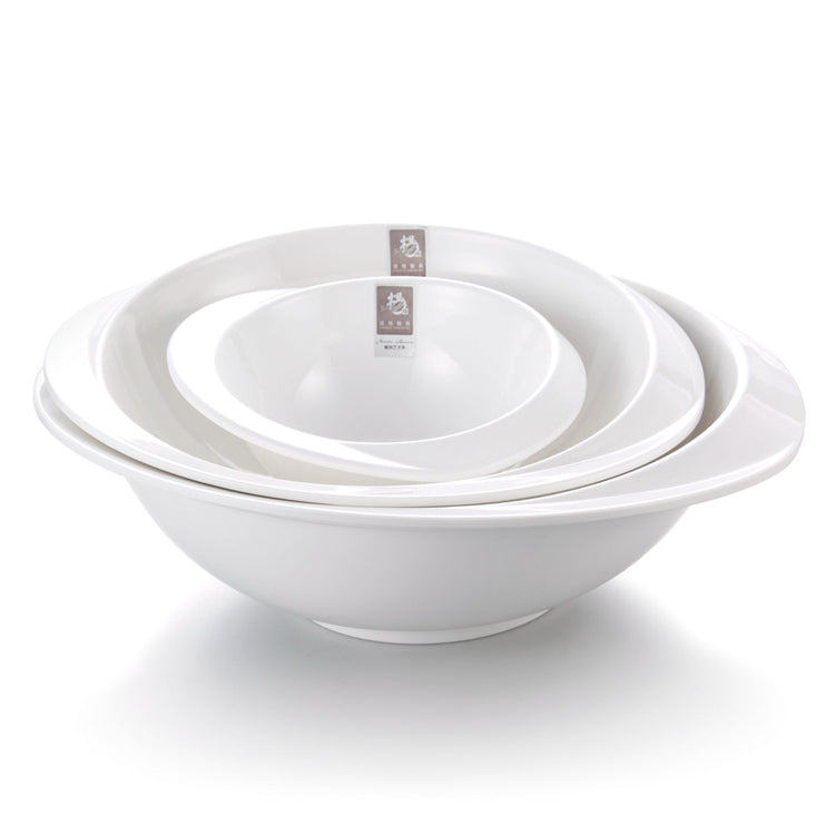 8 Inch White Hat Shaped Restaurant Melamine Bowl Sets YG141007GC