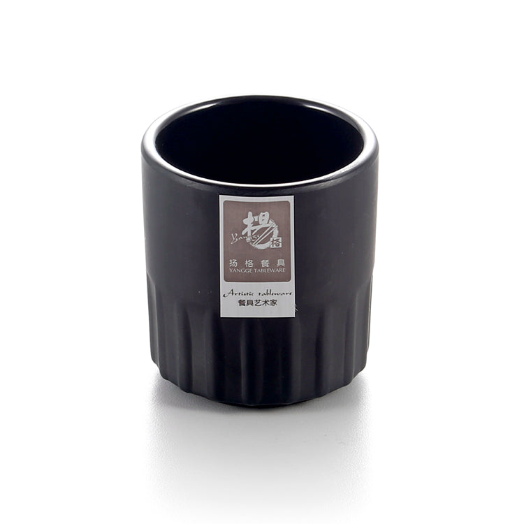 Non Slip Matt Black Mini Melamine Tea Cup 1016MS