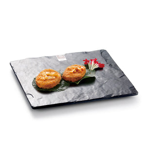 10 Inch Black Matte Square Melamine Serving Plate G416920MS
