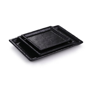 5.6 Inch Black Matte Rectangular Melamine Dinner Plates JM16903MS