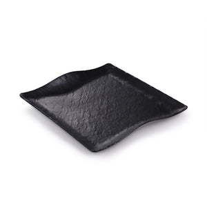 11 Inch Black Matte Square Melamine Dinner Plate JM16915MS