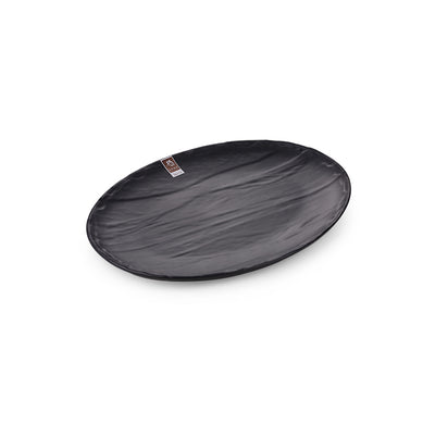 9 Inch Black Matte Oval Melamine Dinner Plate JM16958MS
