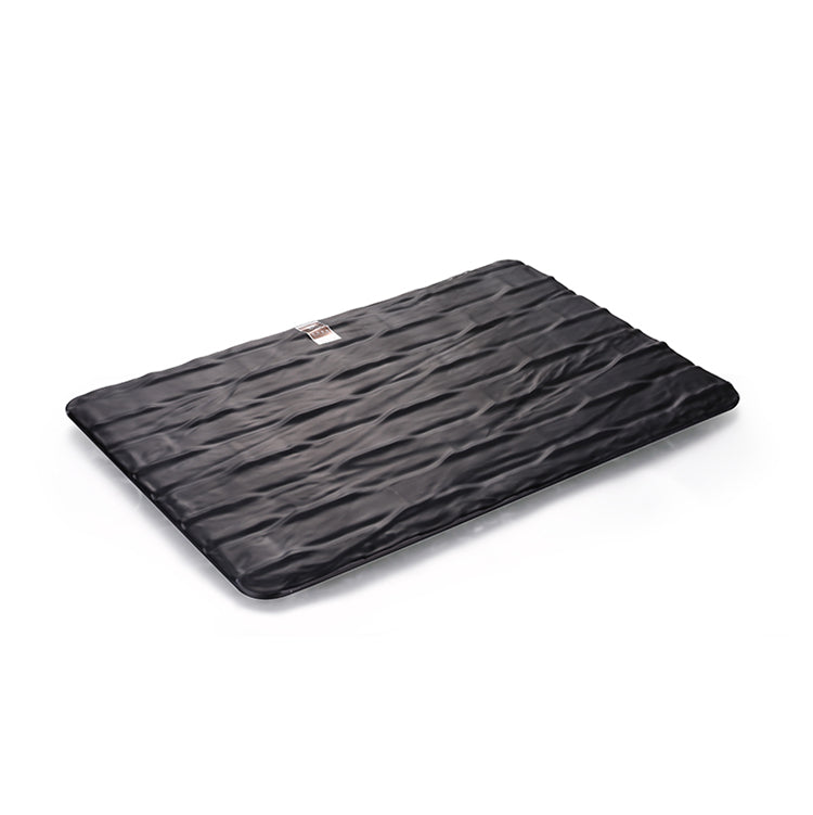 14.1 Inch Black Matte Rectangular Melamine Serving Plate