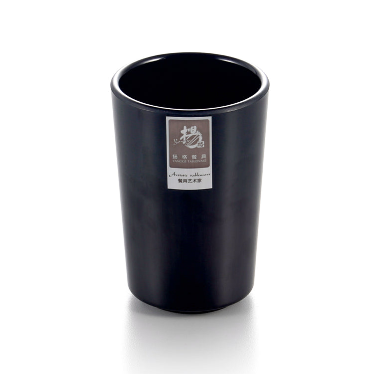 2.8 Inch Matt Black Cafe Melamine Drinking Cup JW2204MS