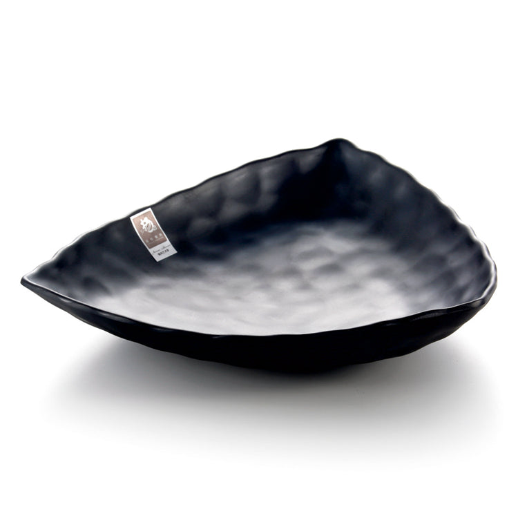 Black Matte Triangle Melamine Restaurant Plate JW7012MS