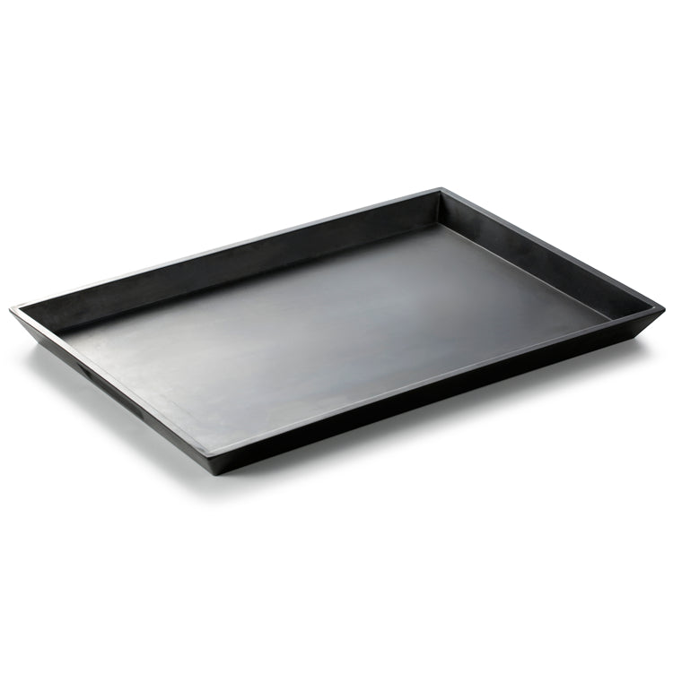 16 Inch Black Matte Rectangular Melamine Serving Plate LJP4016MS