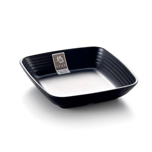 6 Inch Black Matte Square Melamine Food Plate YG140158MS