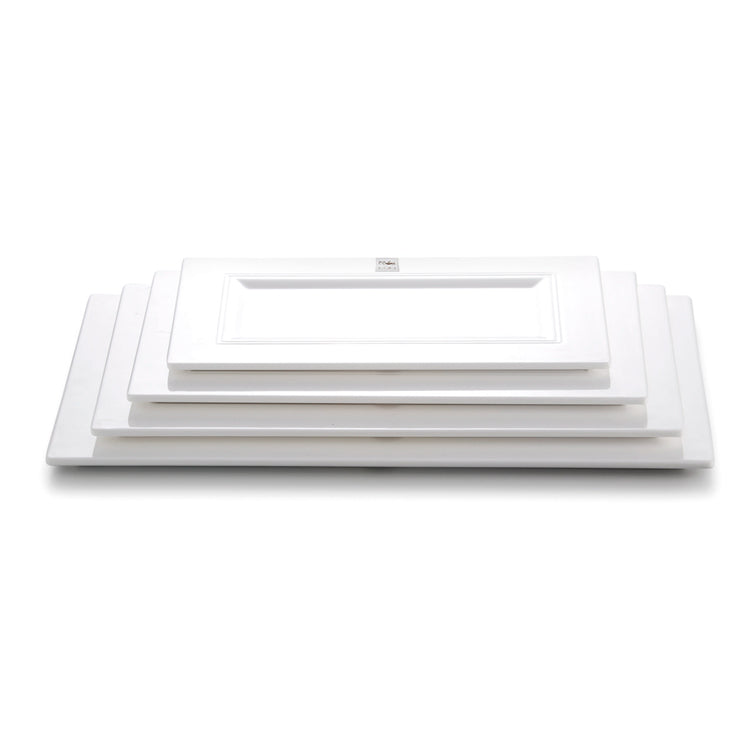 13 Inch White Rectangular Melamine Dinner Plates J411162YJC
