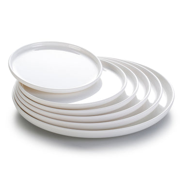 10 Inch White Melamine Round Serving Trays YJ037YJC