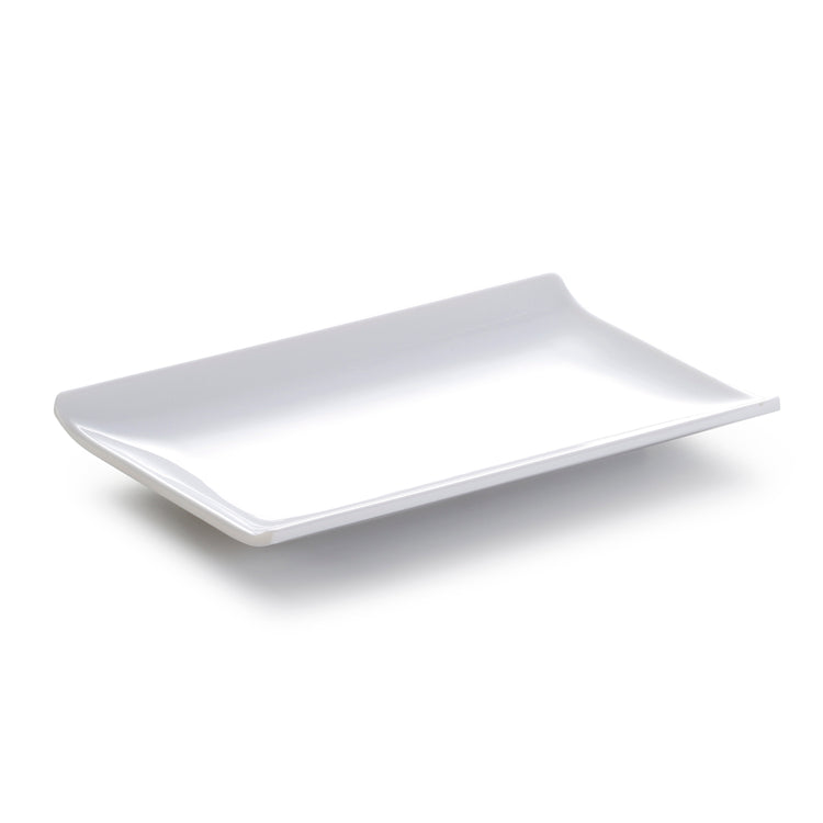 9.7 Inch White Rectangular Melamine Fruit Plate YJ069YJC