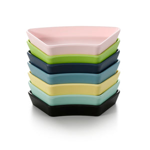 5.6 Inch Colorful Trapezoid Melamine Snack Plates 20005FSMS