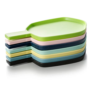 13.6 Inch Colorful Irregular Melamine Plates With Handle 20009FSMS