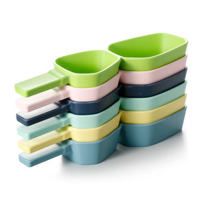14 Inch Colorful Melamine 2 Compartment Dish With Handle 20010FSMS
