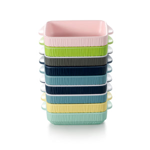 8.3 Inch Colorful Rectangular Melamine Plates With Handles ZT027FSMS