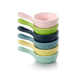 4 Inch Colorful Melamine Sauce Dish With Handle ZT028FSMS