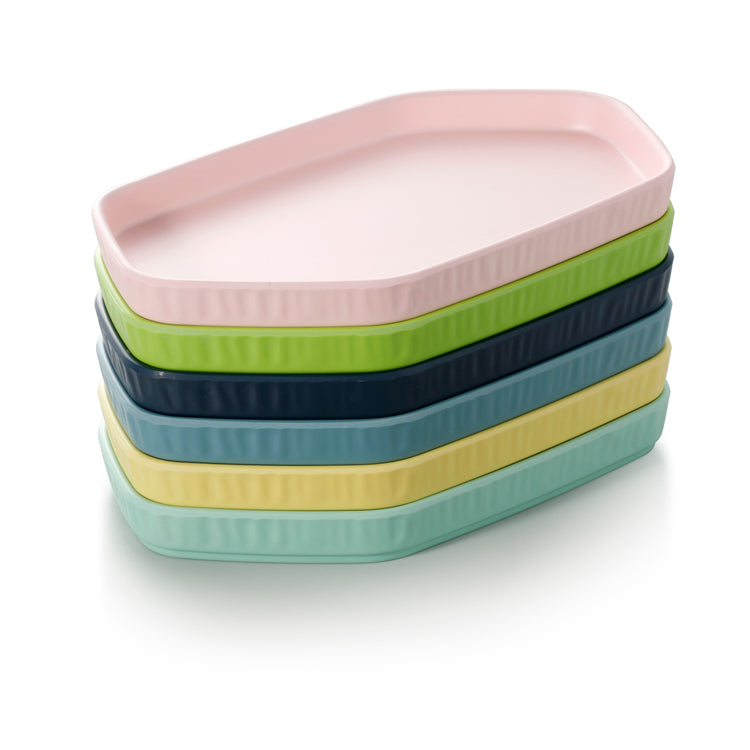 10 Inch Colorful Hexagon Melamine Dessert Plates ZT036FSMS