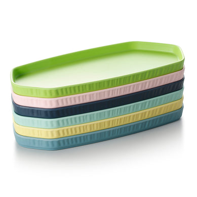 14 Inch Colorful Hexagon Melamine Dessert Plates ZT037FSMS