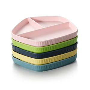 8.5 Inch Colorful Pentagon Melamine 3 Compartment Plates ZT042FSMS