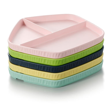 11.3 Inch Colorful Pentagon Melamine 3 Compartment Plates ZT043FSMS