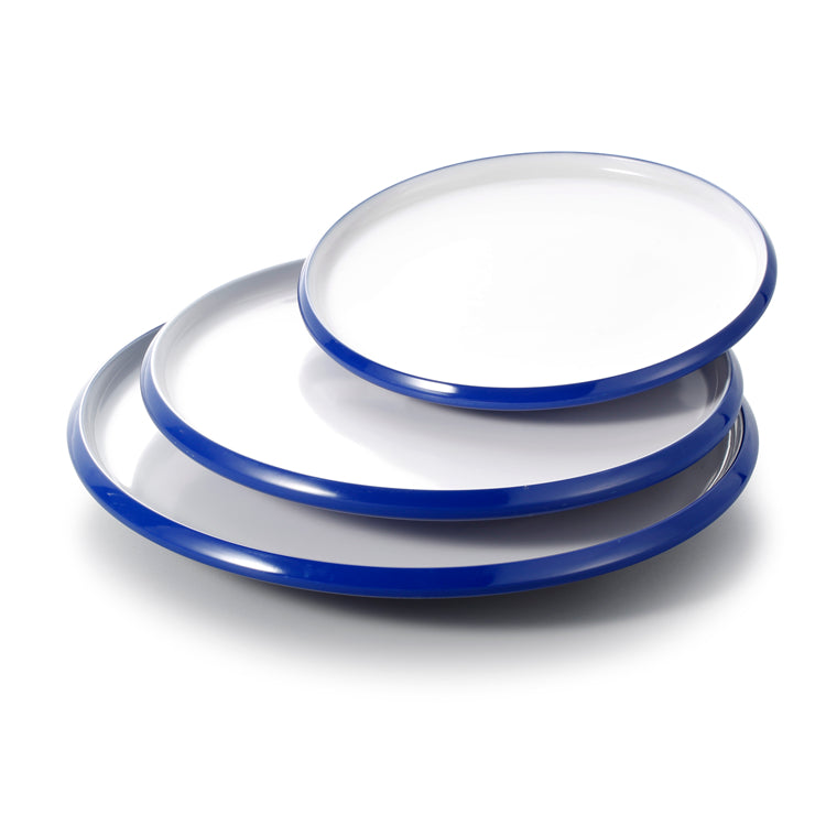 8.3 Inch Blue and White Melamine Plate Set 25001SLBSS