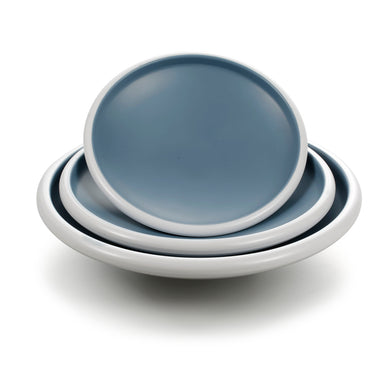8.3 Inch Blue and White Melamine Oval Plates 25007LBSS