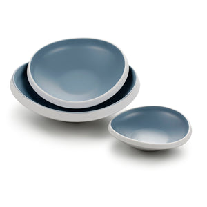 10.2 Inch Blue and White Irregular Melamine Plates 25027LBSS