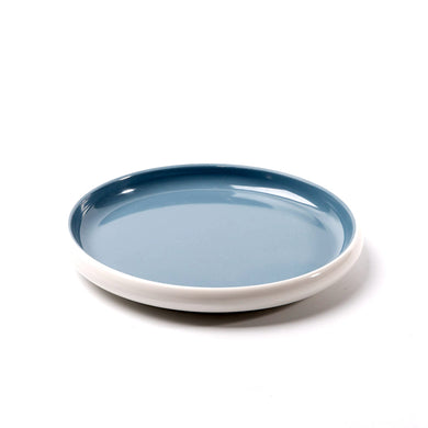 7.1 Inch Blue and White Round Melamine Plate 25043LBSS