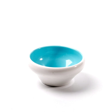 4.5 Inch Cyan and White Round Melamine Deep Bowl 25044QBSS