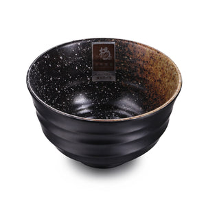 5 Inch Brown with White Spot Non Slip Melamine Bowl JW1105TT