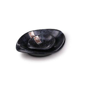 8 Inch Blue Marble Melamine Sauce Dishes M568820LW