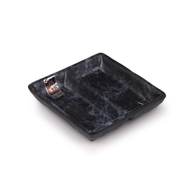 5.5 Inch Blue Marble Melamine 2 Compartment Sauce Dish WT639LW