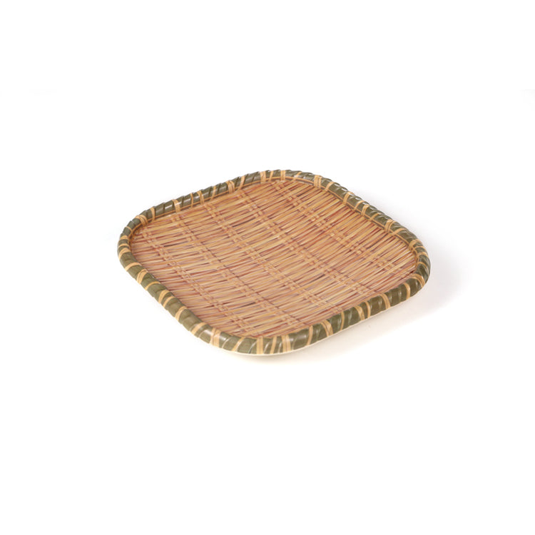 8 Inch Bamboo Square Melamine Plate 1371208CZB