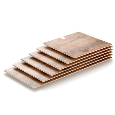 20 Inch Wooden Square Melamine Serving Trays J358180MW11ZG
