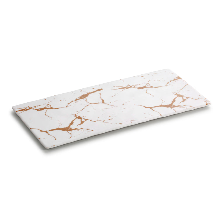 13 Inch Marble White Flat Melamine Food Tray M477730BJ
