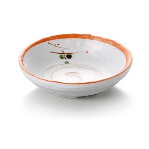 4 Inch Orange Rim Round Melamine Bowl  JM169100YYZQ