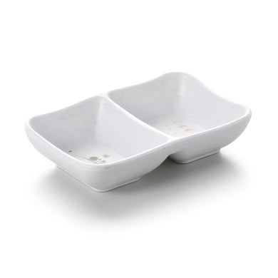 Orange Rim Melamine 2 Compartment Sauce Dish JWT59YYZQ