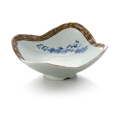 4.2 Inch Blue with Brown Rim Melamine Miso Soup Bowl JM16963YYJN