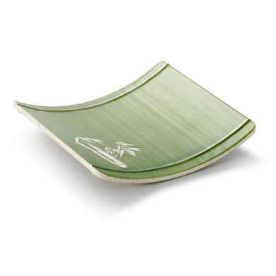 8 Inch Bamboo Color Melamine Arc Shape Plate 19010QSCZ