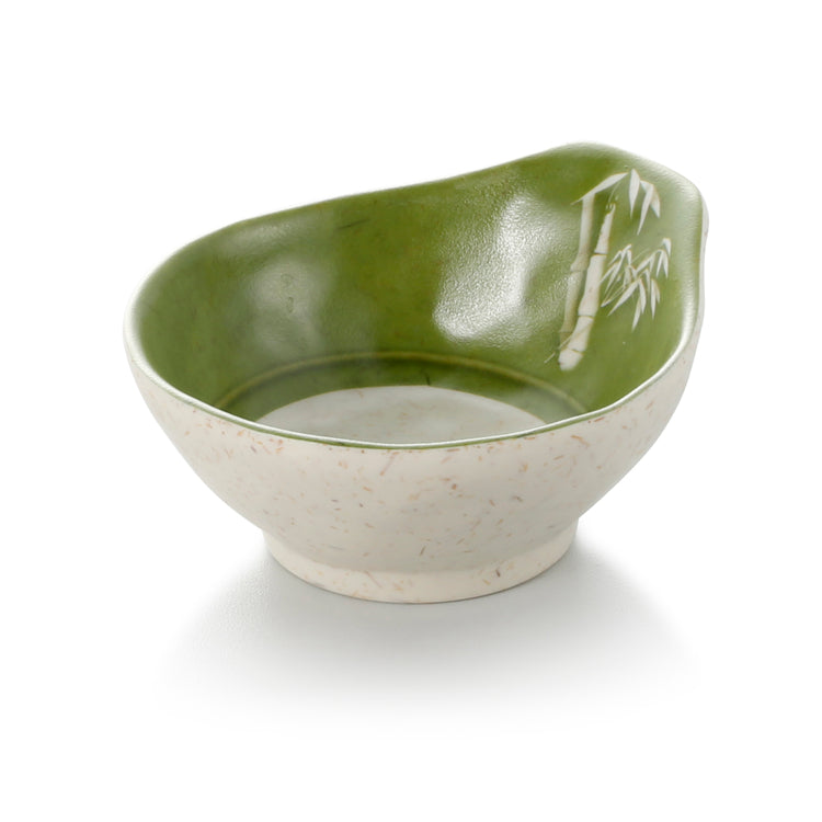 4.5 Inch Bamboo Color Melamine Single Ear Bowl 39045QSCZ
