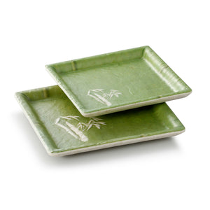 5.6 Inch Bamboo Color Melamine Square Plates JM16903QSCZ