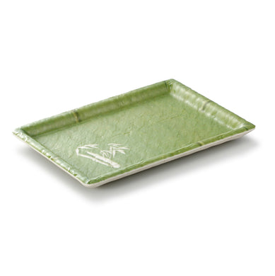 9.6 Inch Bamboo Color Melamine Rectangular Plate JM16905QSCZ